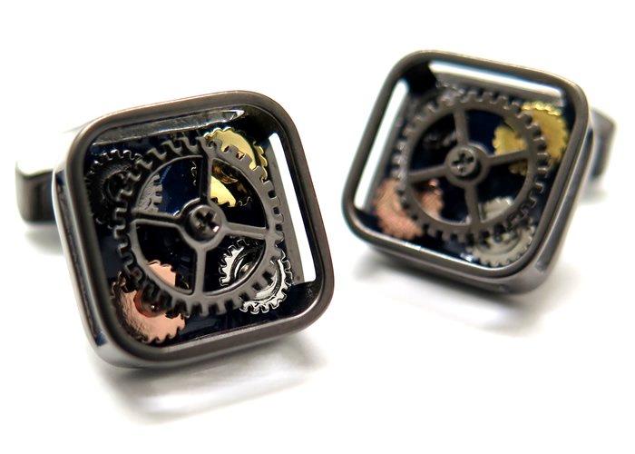 TATEOSSIAN(タテオシアン) メカニカル クアトロギアカフス(ガンメタル&ネイビー)(カフスボタン/カフリンクス) - ブランドの画像