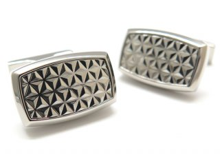 S.T.Dupont(エス・テー・デュポン) ラウンデッドレクタングルダイヤモンドヘッドカフス (カフスボタン/カフリンクス) - ブランド