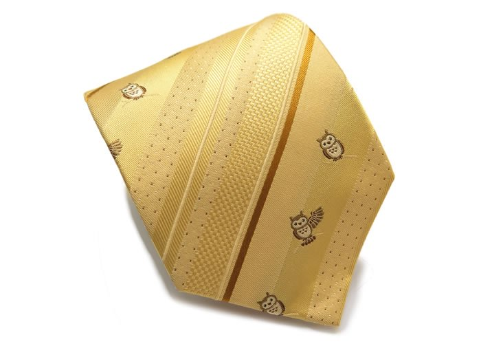 SIMON CARTER(サイモンカーター) サイモンカーター フクロウシルクネクタイ(ゴールド)(ネクタイ/タイ) - ブランドの画像