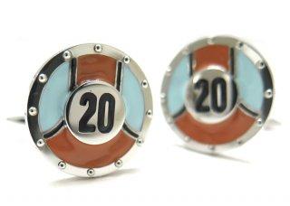 GTO STEEL(ジーティーオー スティール) ナンバー20カフス(カフスボタン/カフリンクス) - ブランド