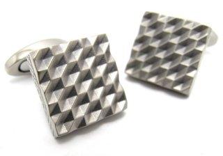 TATEOSSIAN(タテオシアン) チタニウム折り紙カフス(ハニカム)(カフスボタン/カフリンクス) - ブランド