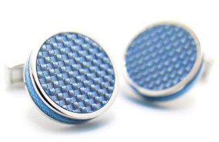 TATEOSSIAN(タテオシアン) タブレットカーボンカフス(ブルー)(カフスボタン/カフリンクス) - ブランド