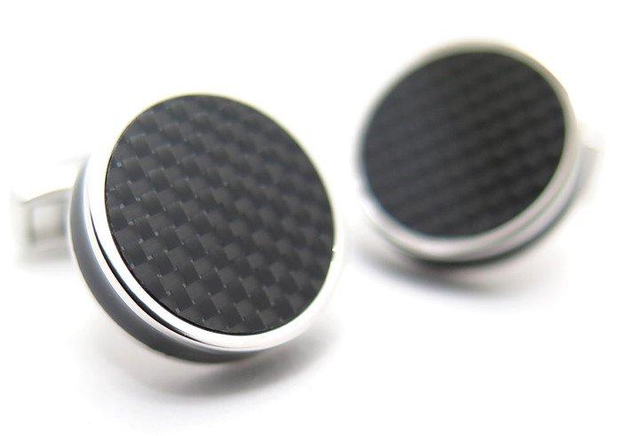 TATEOSSIAN(タテオシアン) タブレットカーボンカフス(ブラック)(カフスボタン/カフリンクス) - ブランドの画像