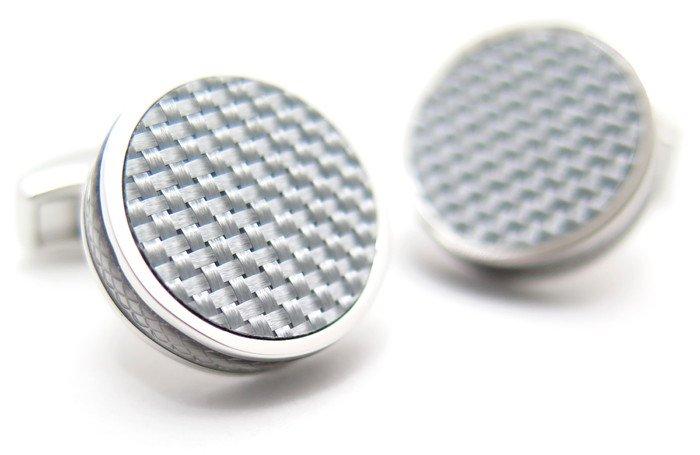 TATEOSSIAN(タテオシアン) タブレットカーボンカフス(グレイ)(カフスボタン/カフリンクス) - ブランドの画像