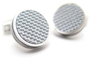 TATEOSSIAN(タテオシアン) タブレットカーボンカフス(グレイ)(カフスボタン/カフリンクス) - ブランド
