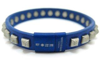 TATEOSSIAN(タテオシアン)スタッズブレスレット(ブルー&ブルークラスプ) - ブランド