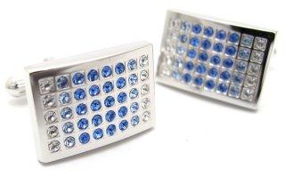 DAKS(ダックス) スワロフスキーグラデーションカフス(ブルー)(カフスボタン/カフリンクス) - ブランド