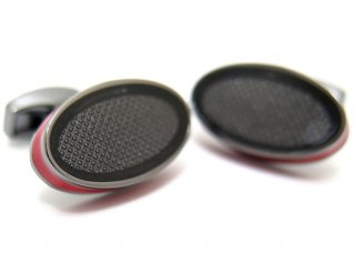 TATEOSSIAN(タテオシアン) アイスオーバルカフス(レッド)(カフスボタン/カフリンクス) - ブランド