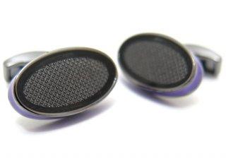 TATEOSSIAN(タテオシアン) アイスオーバルカフス(パープル)(カフスボタン/カフリンクス) - ブランド