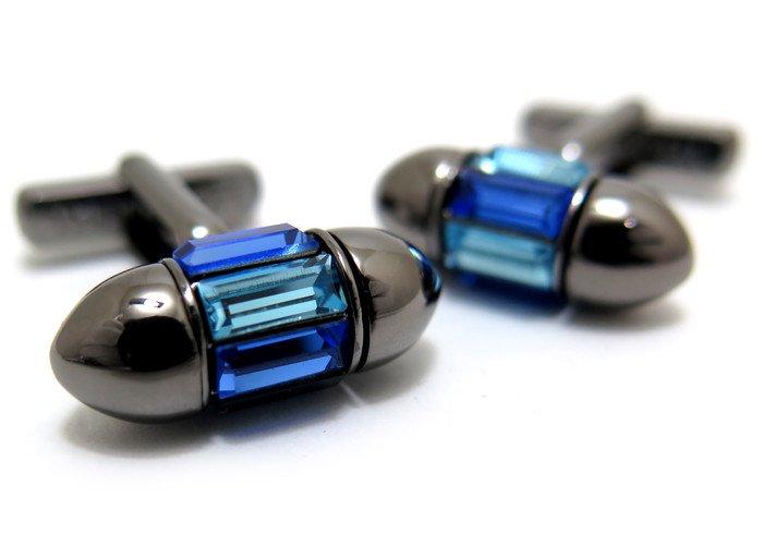 THOMPSON (トンプソン)  スワロフスキースピンカフス(ブルー)(カフスボタン/カフリンクス) - ブランドの画像