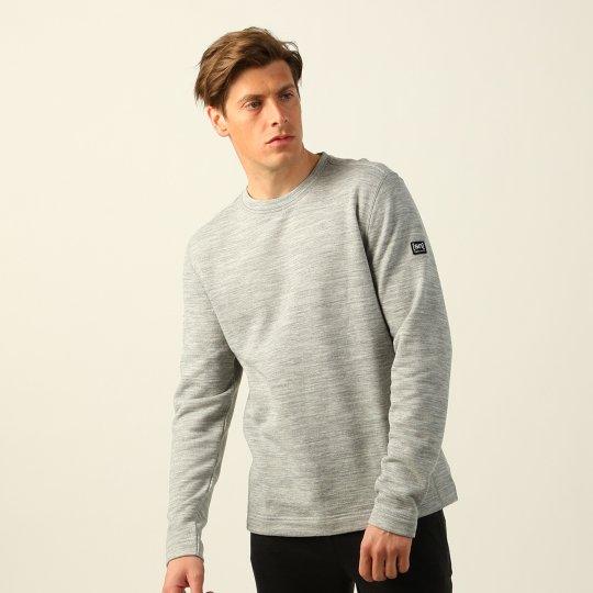 Knit Sweater メンズ長袖裏毛 リラックス ラウンジトレーナー【スポーツウェア ヨガウェア】