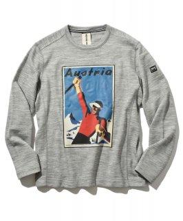 【別注・限定販売商品】M Knit Sweater graphic クルーネックプリントスウェットシャツ