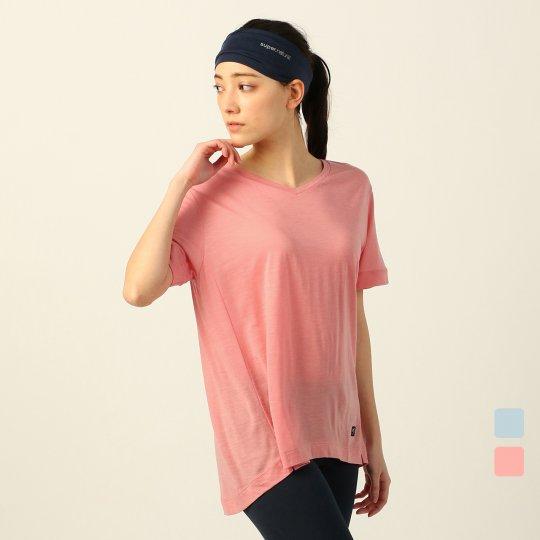 BASIC V-NECK TEE Vネック テンセル混Tシャツ 半袖【スポーツウェア ヨガウェア】