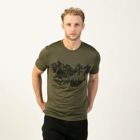 M OTHER SIDE TEE(ライトウェイト140g)メンズ半袖グラフィックプOSTシャツ【スポーツウェア ヨガ・アウトドアウェア】