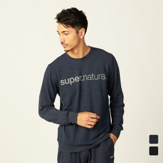 M SIGNATURE CREW(ヘビーウェイト220g)メンズ長袖シグネチャクルーTシャツ【スポーツウェア ヨガ・アウトドアウェア】