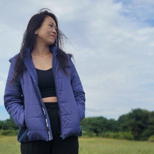 W COMBINATION JACKET レディースキルト中綿入りジャケット【スポーツウェア ヨガウェア】