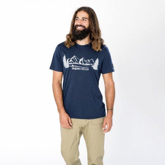 M MOUNTAIN RANGE TEE(ライトウェイト140g)メンズ半袖グラフィックマウンテンRTシャツ【スポーツウェア ヨガ・アウトドアウェア】