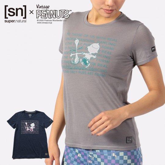 W Vintage PEANUTS TEE レディース 半袖 スヌーピー チャーリーブラウン Tシャツ【スポーツウェア ヨガウェア】