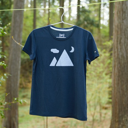 [sn] × YAMA HACK T-shirt  レディース 「マウンテン」 illustration by ジェリー鵜飼