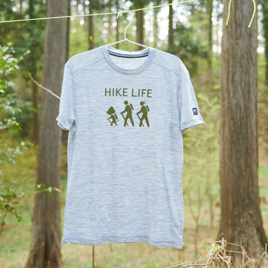 [sn] × YAMA HACK T-shirt  メンズ  「ハイクライフ」 illustration by ジェリー鵜飼