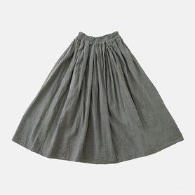 厚地ロングスカート / ライトグレー