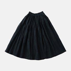 厚地ロングスカート / ブラック