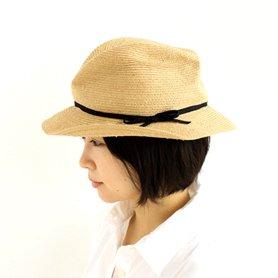 BOXED HAT / ラフィア×ブラックリボン