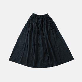 薄地ロングスカート / ブラック