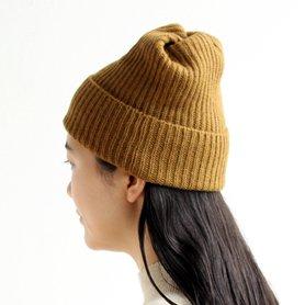 MAW-11 pleats knit cap / マスタード