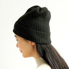 MAW-11 pleats knit cap / モスグリーン
