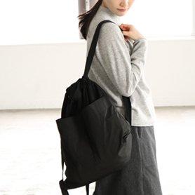 Drawstring Backpack ブラック