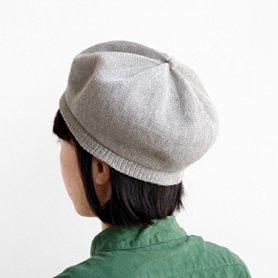 beret top gather linen MLK-01 / ライトグレー