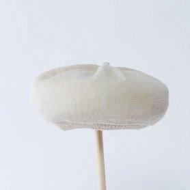 beret top gather linen MLK-01 / アイボリー
