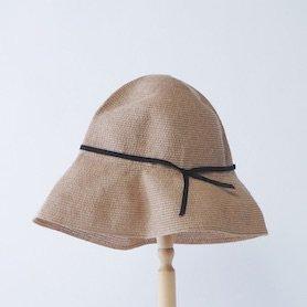 MPB-01S paper braid light hat wide(貼箱入り) / ミックスブラウン×ブラック