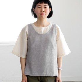 linen vest / ライトグレー[50%OFF]
