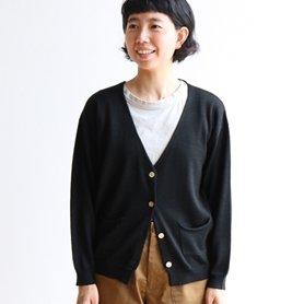 linen wool cardigan ブラック[40%OFF]