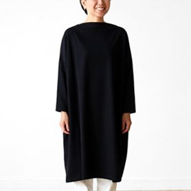 flannel one piece / ブラック
