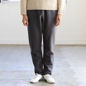 fine wool cotton pants チャコールグレー[20%OFF]