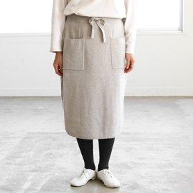 knit skirt グレー[20%OFF]