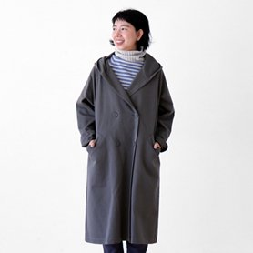 cotton wool chino coat グレー[20%OFF]