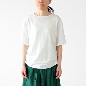 リネン100Tシャツ ホワイト