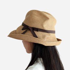 BOXED HAT 101 / ミックスブラウン×ダークブラウンリボン