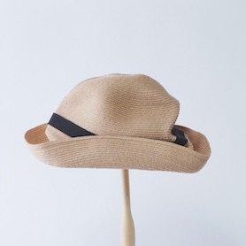 BOXED HAT 401PT / ラフィア×ブラックリボン