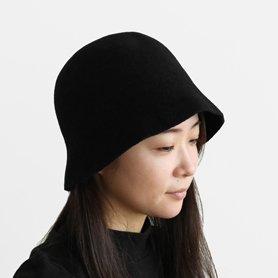 MKF-24130 bell hat lamb / ブラック