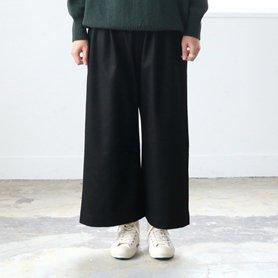 ウールワイドパンツ 黒