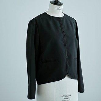 ブラックフォーマルジャケット(春夏用 ポリエステル/ウール)