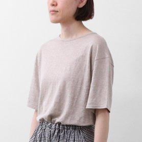 リネン100Tシャツ / ベージュ