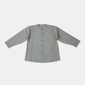 スタンドカラーポケットシャツ / ライトグレー