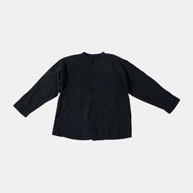 スタンドカラーポケットシャツ / ブラック