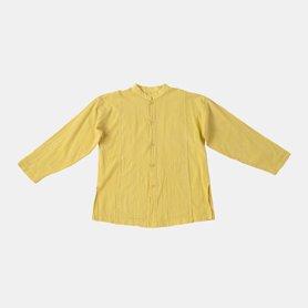 スタンドカラーポケットシャツ / レモンイエロー